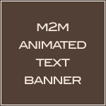 M2M Animated Text Banner-girly web design,