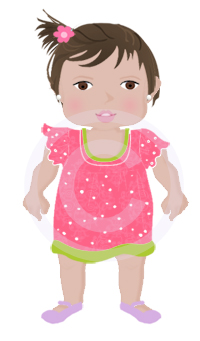 Cute Baby Girl Graphic-
