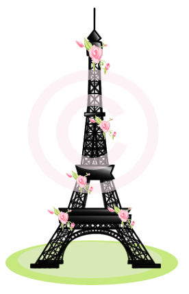 Rose Eiffel Tower-