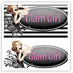 Glamtastic Girl Logo Package