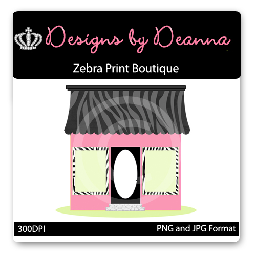 Zebra Print Boutique Graphic-