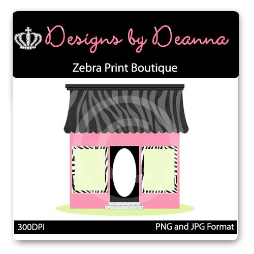 Zebra Print Boutique Graphic